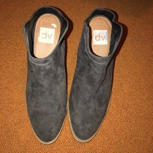 DV by Dolce Vita Shoes - Charcoal grey mule style booties